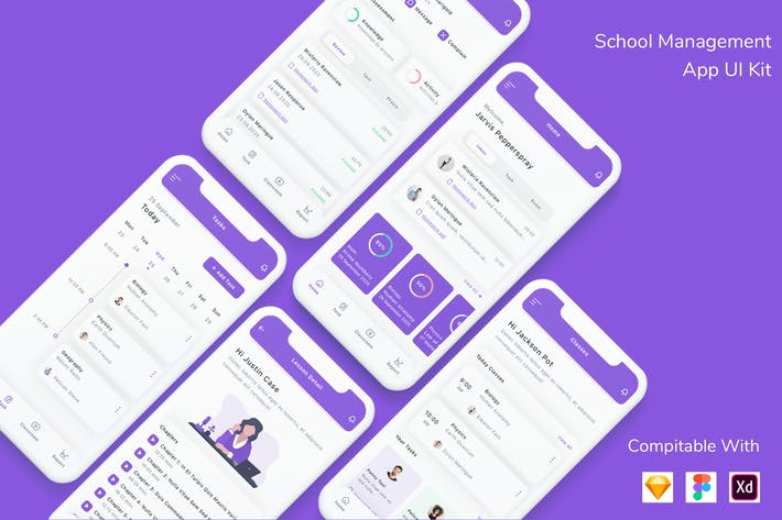 Thumbnail for School Management App UI Kit