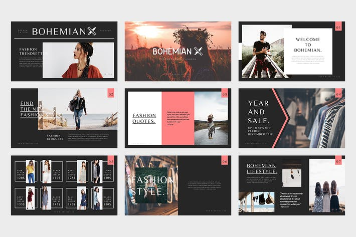 Cover Image For Bohemian : Fashion Catalogue Powerpoint Template
