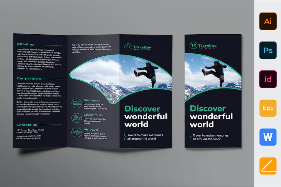 Tours And Travels Brochure Trifold