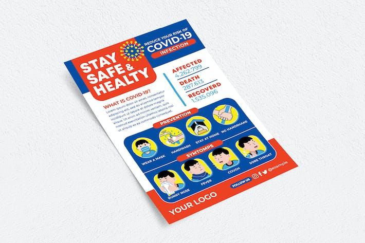 Thumbnail for Bleiben Sie sicher und gesund Flyer