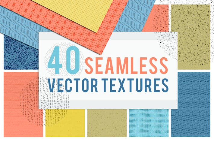 Thumbnail for 40 Seamless Tiling Vector Pattern Textures
