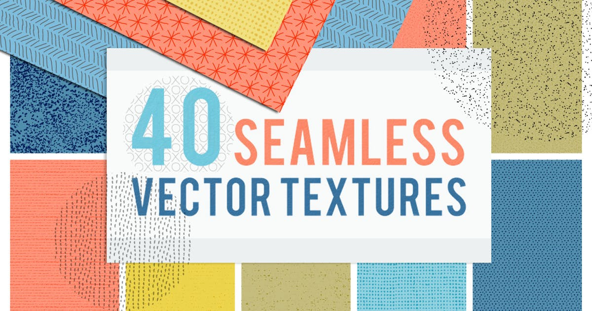 Download 40 Seamless Tiling Vector Pattern Textures by melrodicq