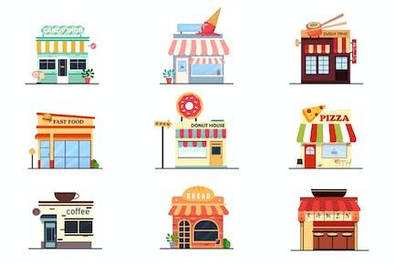 Ilustraciones de Pack de Tienda