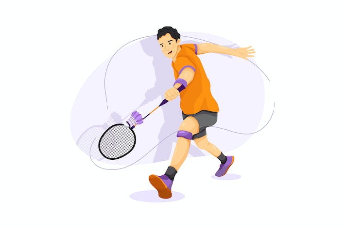 Badminton vector illustration concept