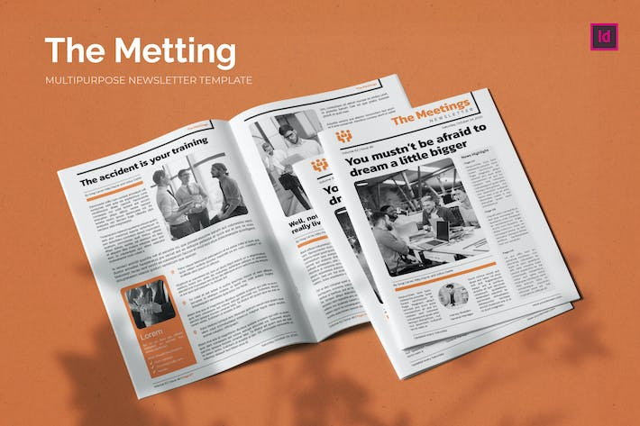 Thumbnail for The Meeting - Newsletter Template