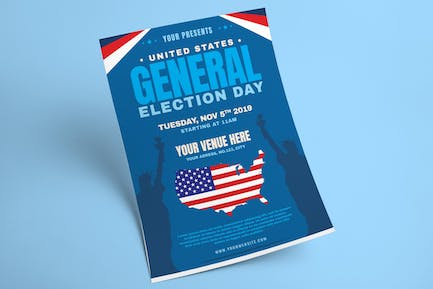US General Election Day Flyer