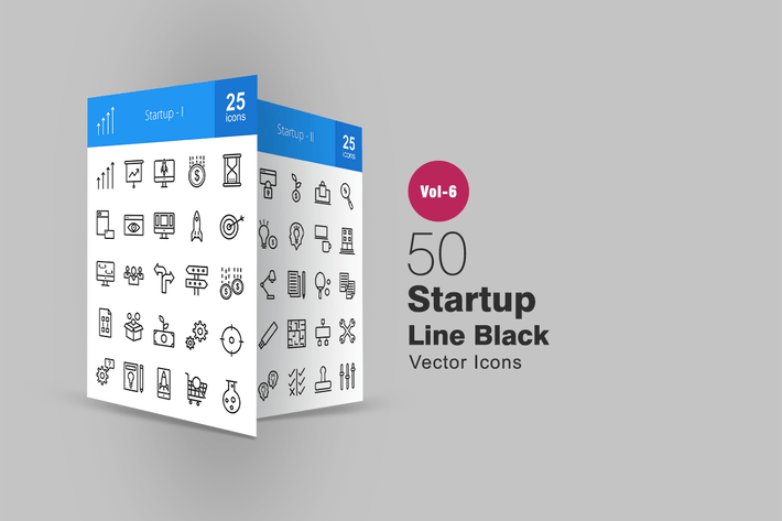 Thumbnail for 50 Startup Line Icons