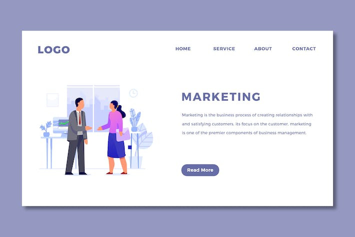 Thumbnail for Marketing - Landing Page Template