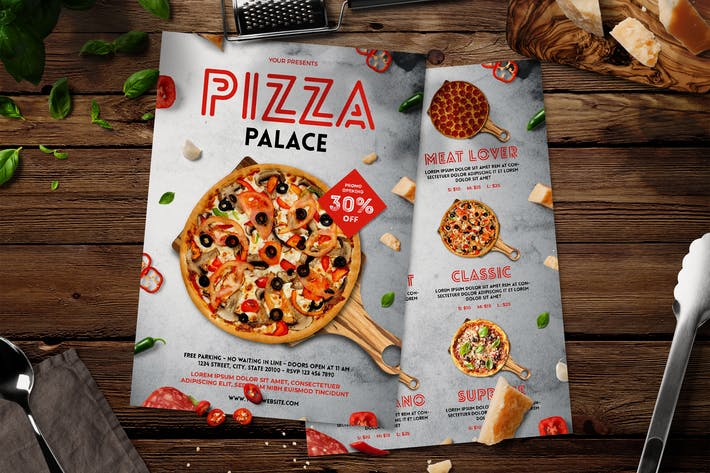 Pizza Flyer Menu