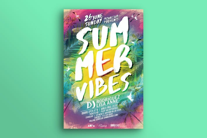 Thumbnail for Summer Vibes Flyer