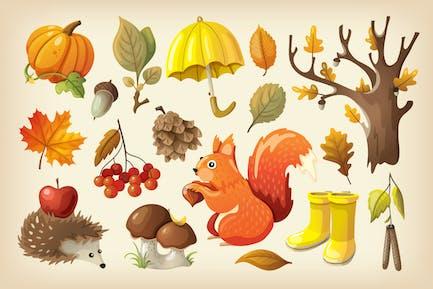 Kit de otoño colorido y acogedor.