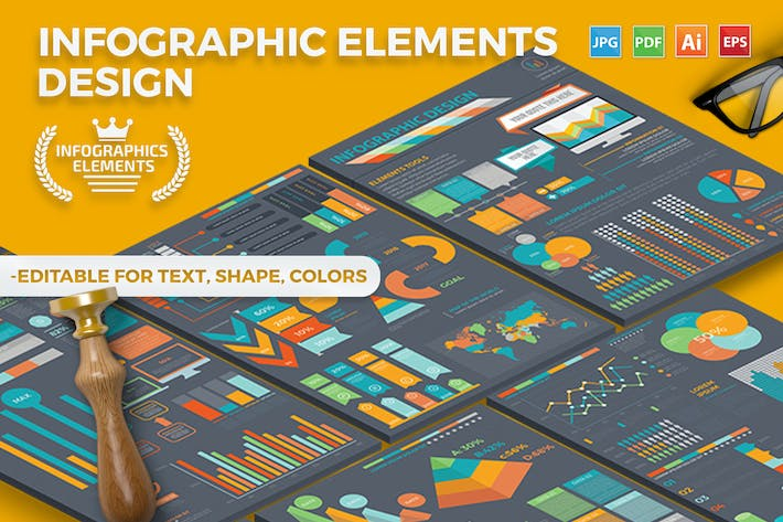 Thumbnail for Infographic Template Design