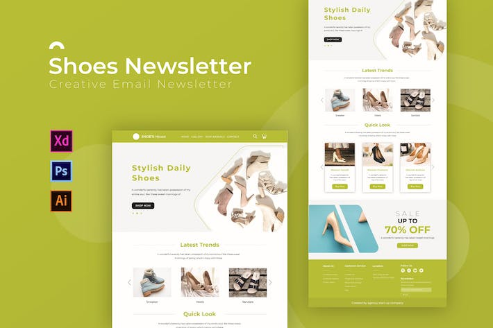 Thumbnail for Shoes | Newsletter Template