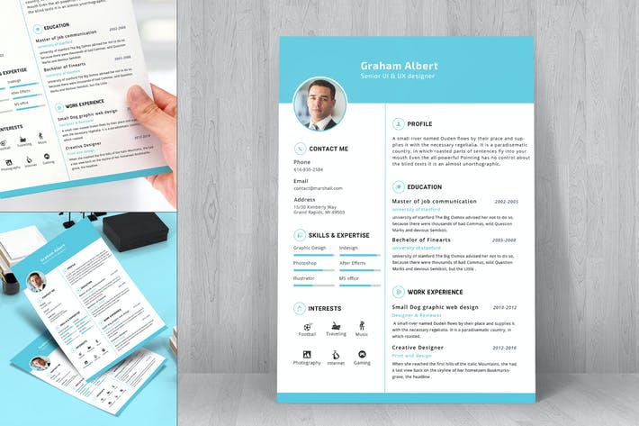 Thumbnail for Resume CV Template-21