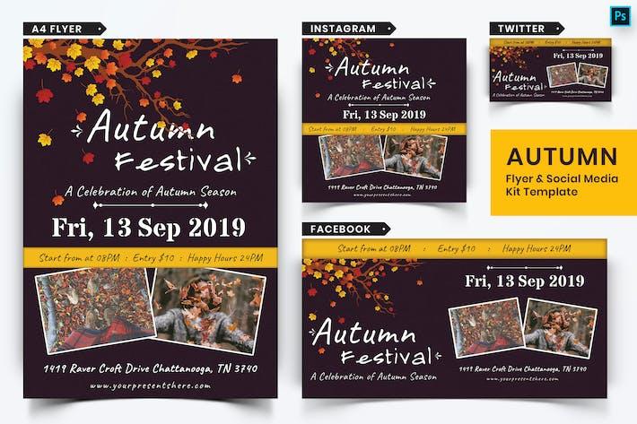 Thumbnail for Autumn Festival Flyer & Social Media Pack-11