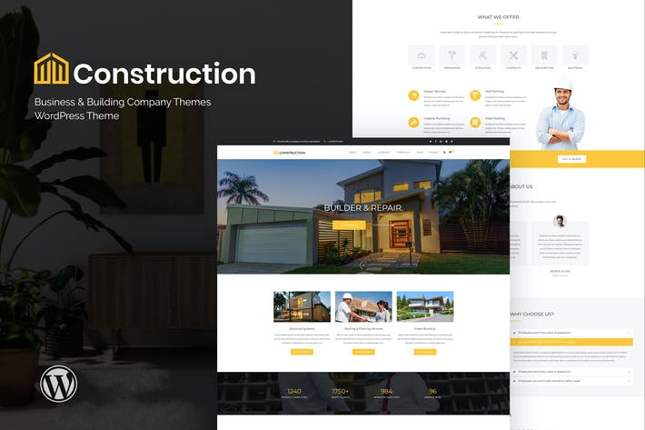 Thumbnail for Construction - Business & Building Company WordPre