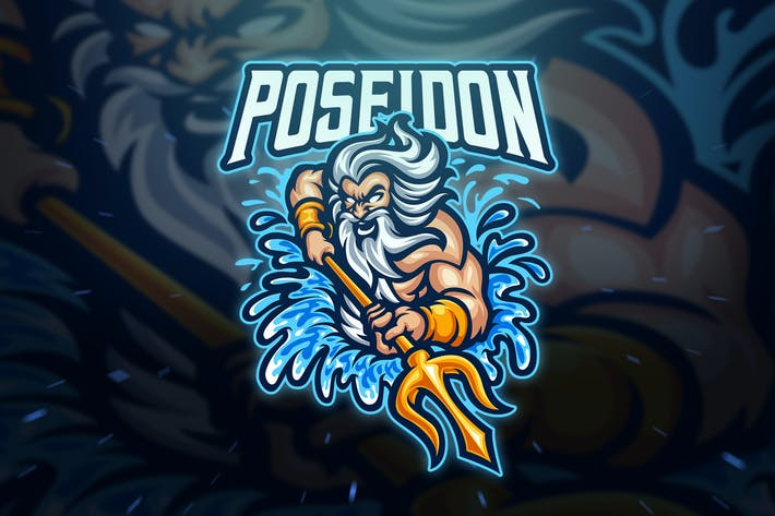 Thumbnail for Poseidon Sport and Esport Logo Template