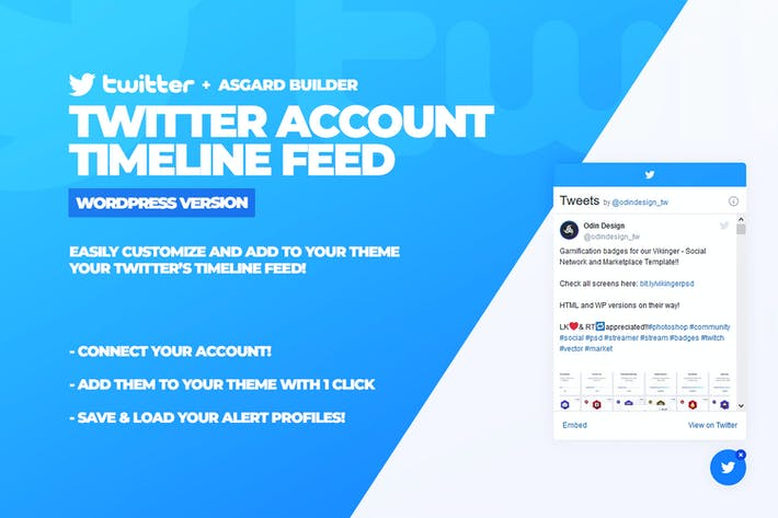 Thumbnail for Twitter Timeline Feed WordPress Plugin