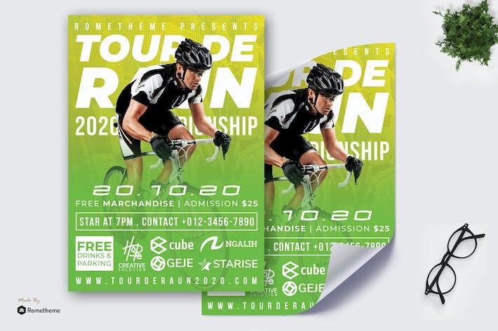 Thumbnail for Tour de Raun Flyer - Race Poster RB