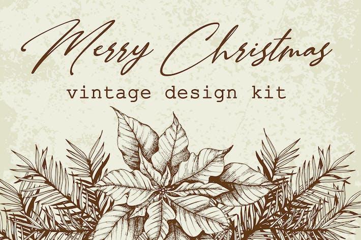Thumbnail for Merry Christmas Vintage Design Kit