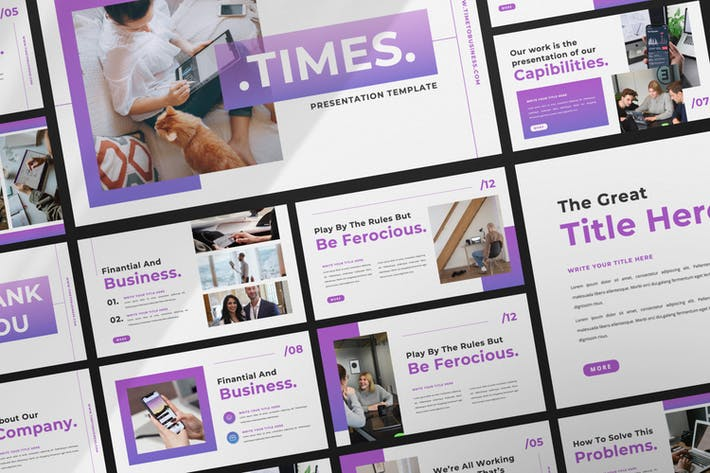 Times Business Keynote Template