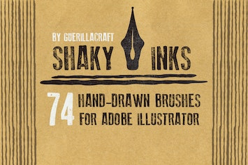 Shader Brushes For Adobe Illustrator by guerillacraft on