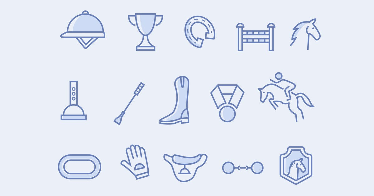 Download 15 Horse Racing Icons by creativevip