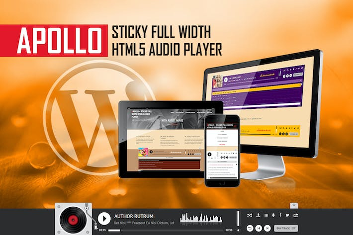 Thumbnail for Apollo - Sticky Full Width HTML5 Audio Player