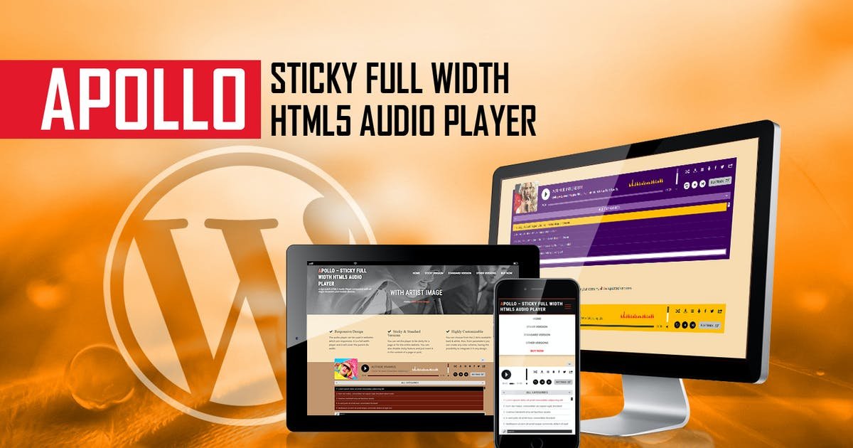 Download Apollo - Sticky Full Width HTML5 Audio Player by LambertGroup