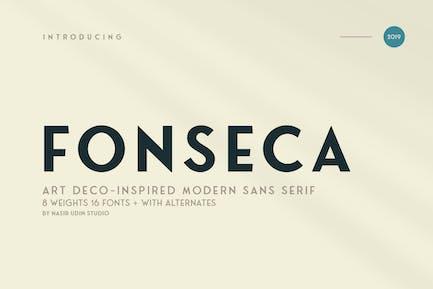 Fonseca   art deco font family pack