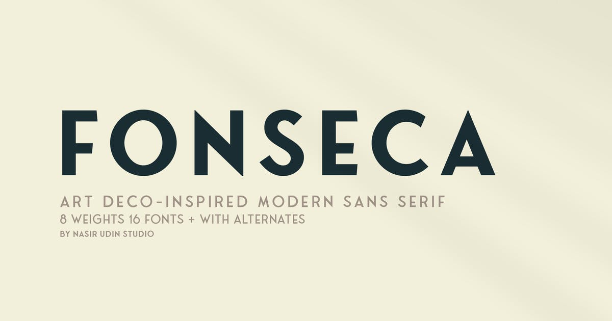 Download Download Fonseca | art deco font family pack | Shared by G4Ds