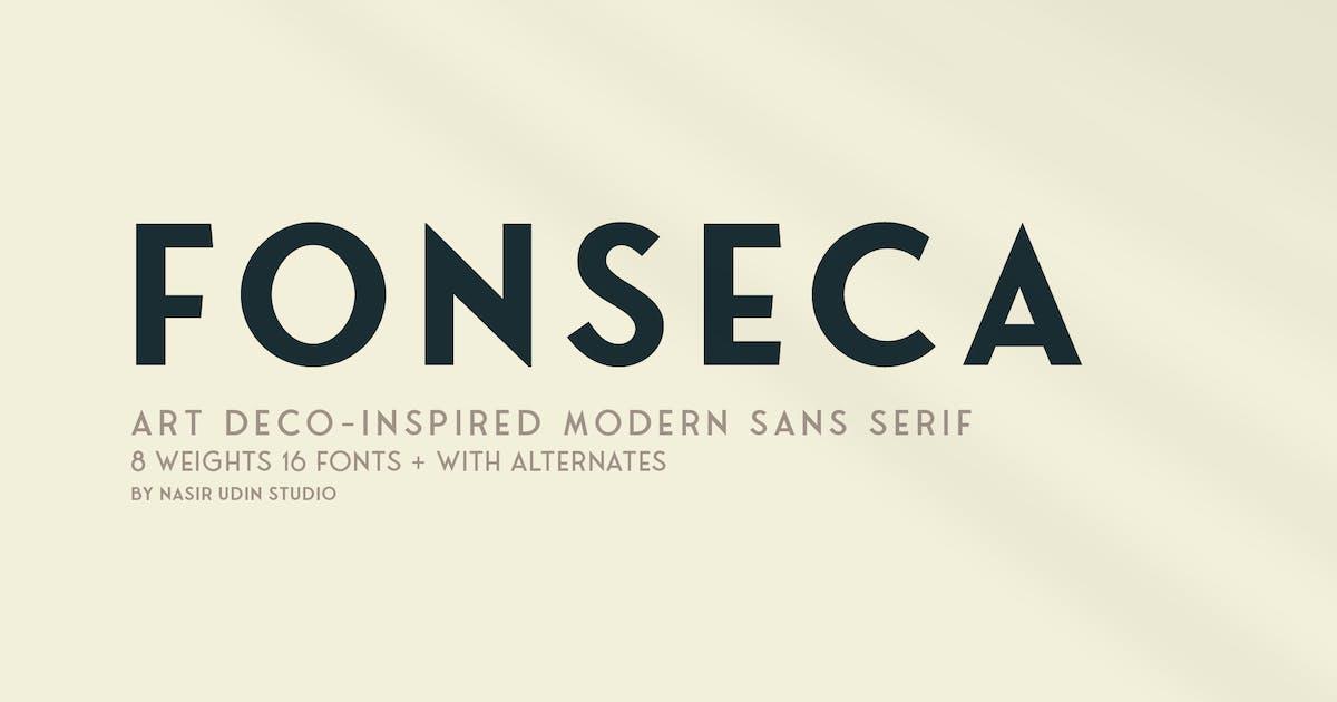 Download Fonseca | art deco font family pack by nasir-udin