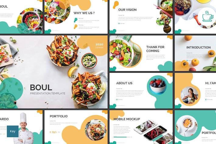 Thumbnail for Boul - Food Keynote Template