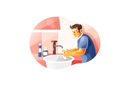 Washing your hands properly all the times