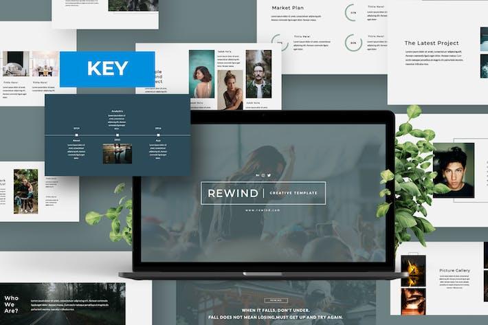 Thumbnail for Rewind Minimalist Business Keynote