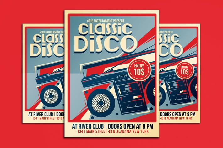 Thumbnail for Classic Disco Radio Flyer Poster