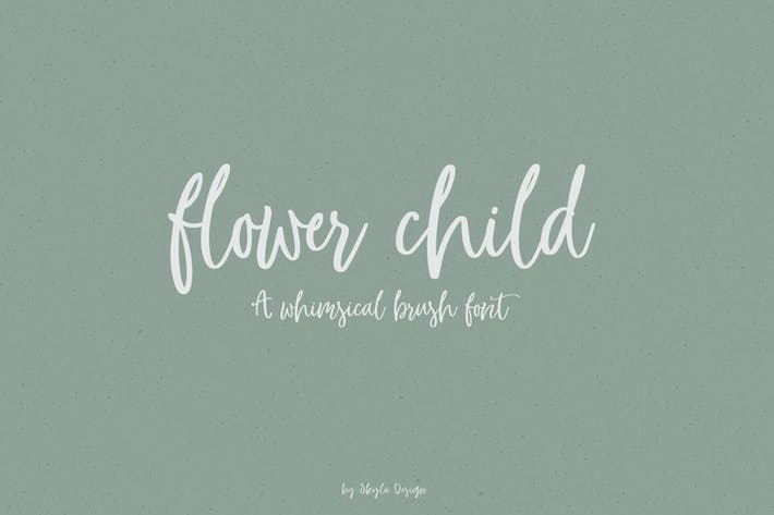 Thumbnail for Whimsical brush font, Flower Child