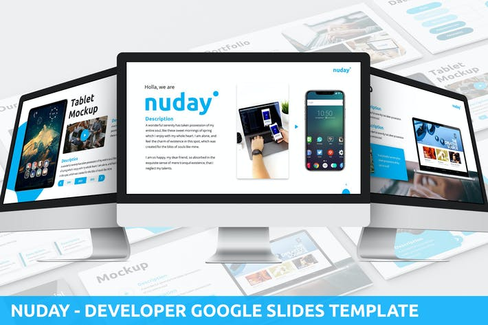 Thumbnail for Nuday - Developer Google Slides Template