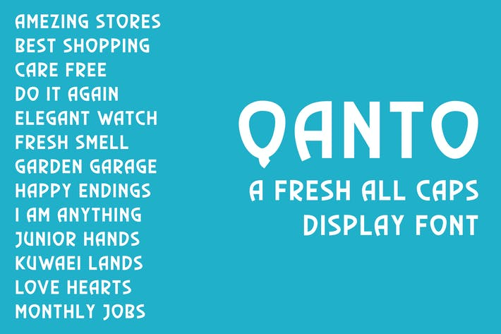 Thumbnail for Qanto - Display Font
