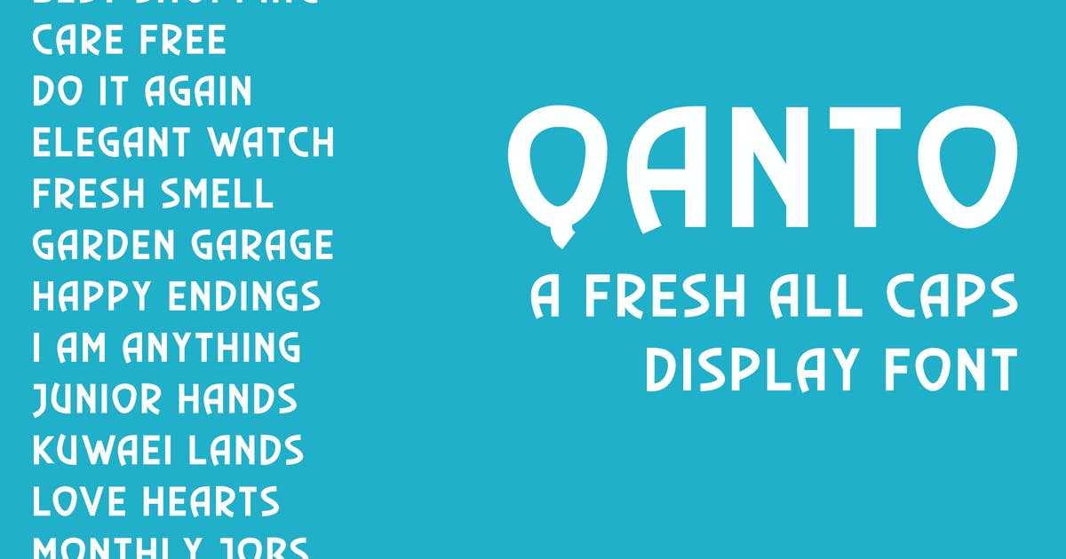 Qanto - Display Font by Muse-Master