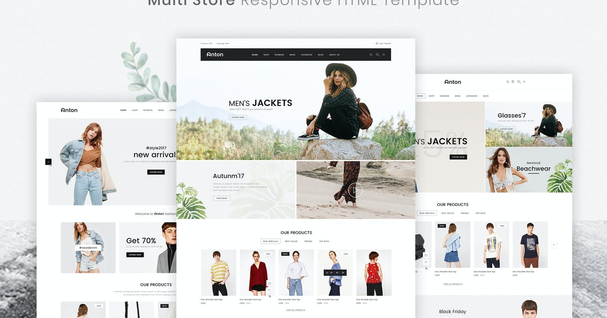 Download Anton   Multi Store Responsive HTML Template by EngoTheme