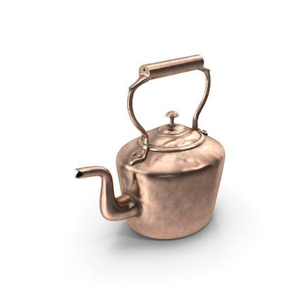Античный овальный медный чайник 19 века