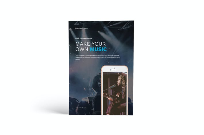 Thumbnail for Music A4 Brochure Template