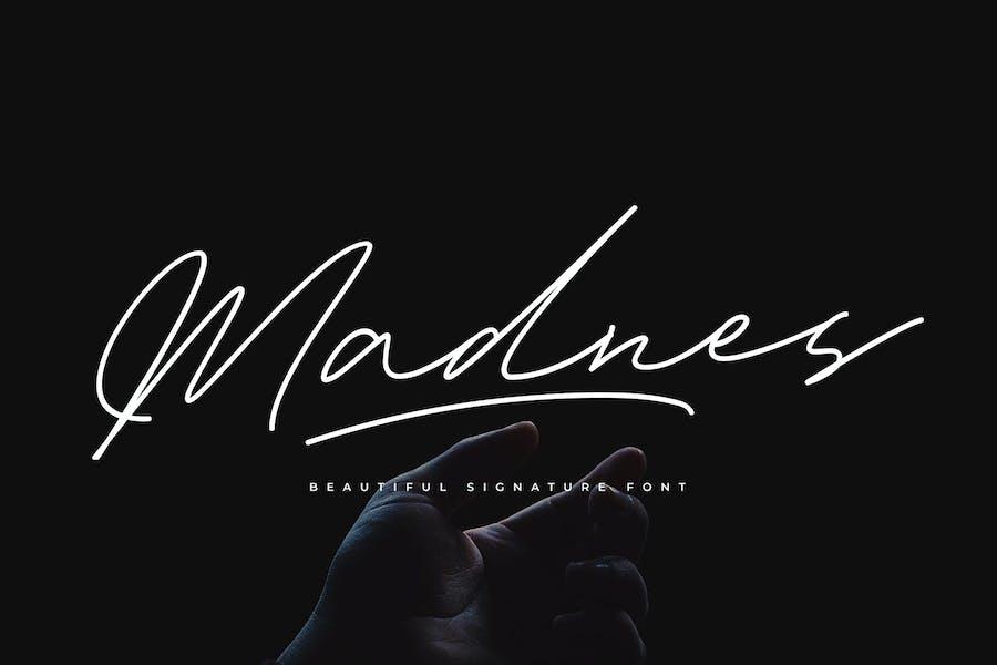 Madnes Signature Font