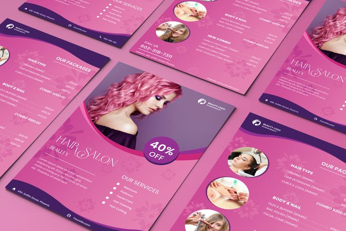 Thumbnail for Hair Salon Flyer Template Two Sided Price List