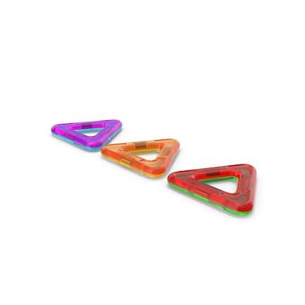 Magnetische Designer Farbige Dreiecke