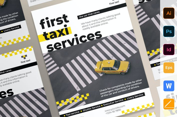 Thumbnail for Плакат служб такси