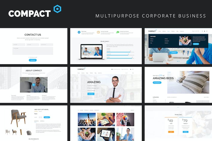 Thumbnail for Compact - Multipurpose Business Corporate Template