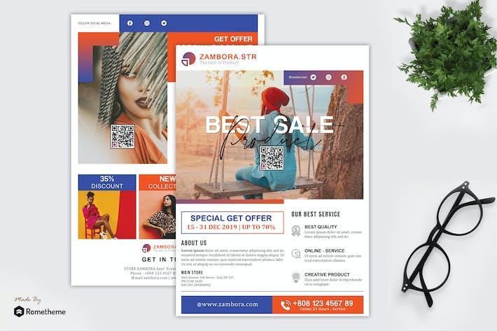 Thumbnail for Zambora - Product Promotion Sale Flyer HR