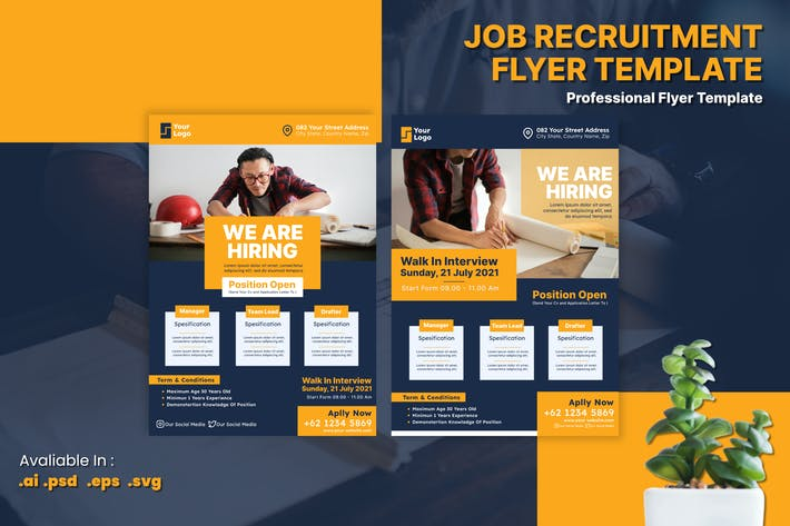 Job Vacancy & Recruitment Flyer Template